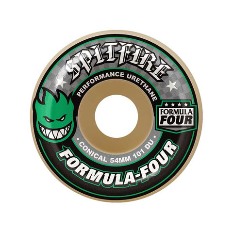 WHEELS SPITFIRE F4 101D CONICAL GRN 54mm
