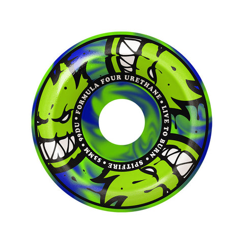 WHEELS SPITFIRE F4 99D CONICAL FULL AFTERBURN GRN 53MM