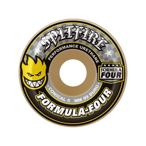 WHEELS SPITFIRE F4 99D CONICAL YELLOW 54MM