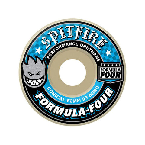 WHEELS SPITFIRE F4 CONICAL 52mm WHITE