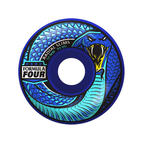 WHEELS SPITFIRE F4 DEATH ADDER RADIALS BLUE 52MM