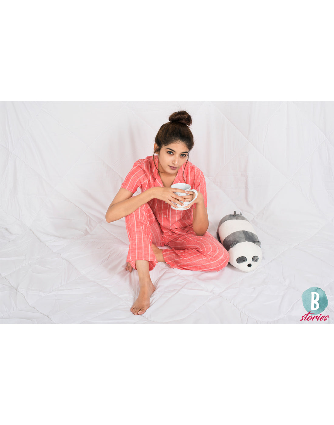 Reddish Linen PJ set