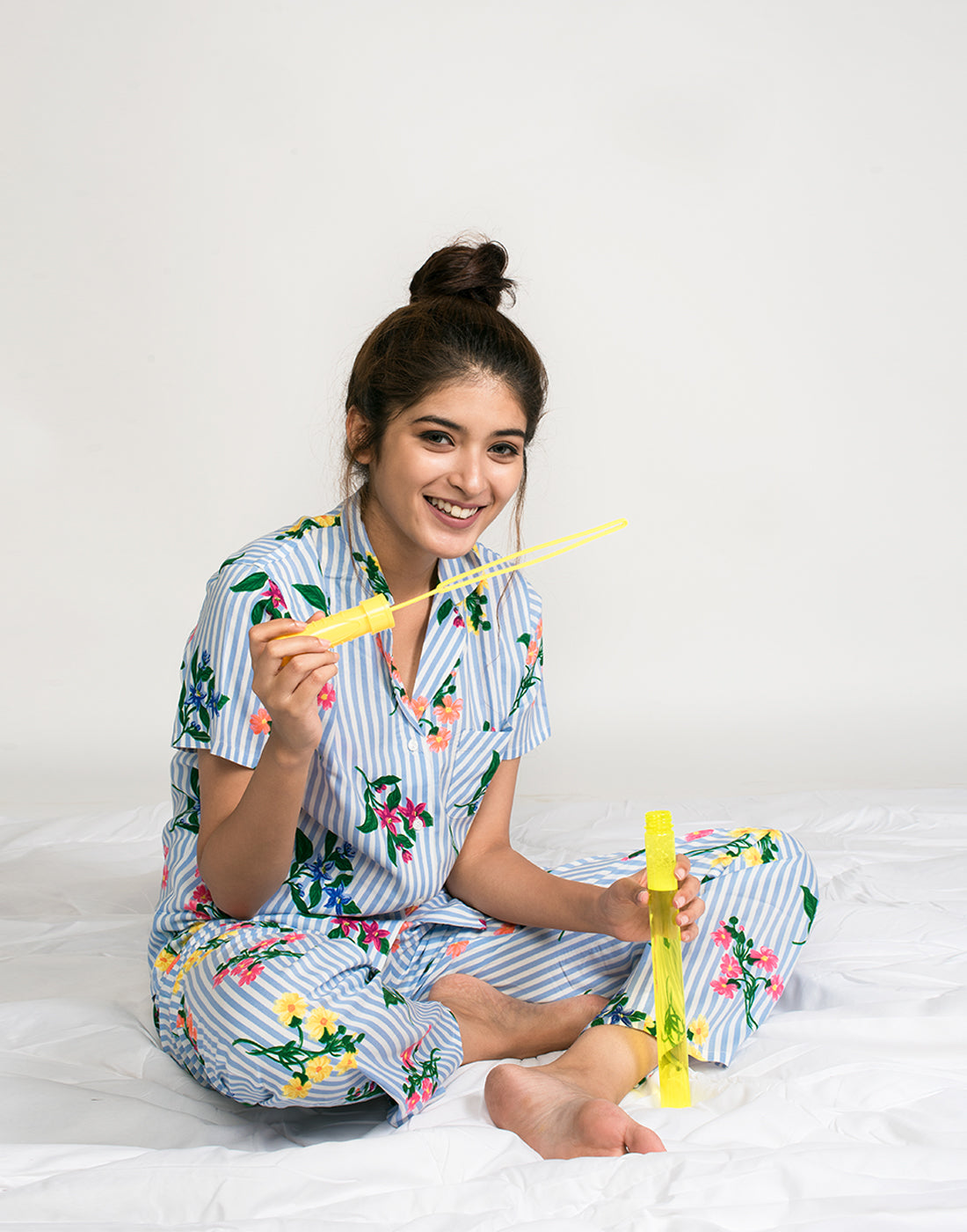 Striped Floral PJ set