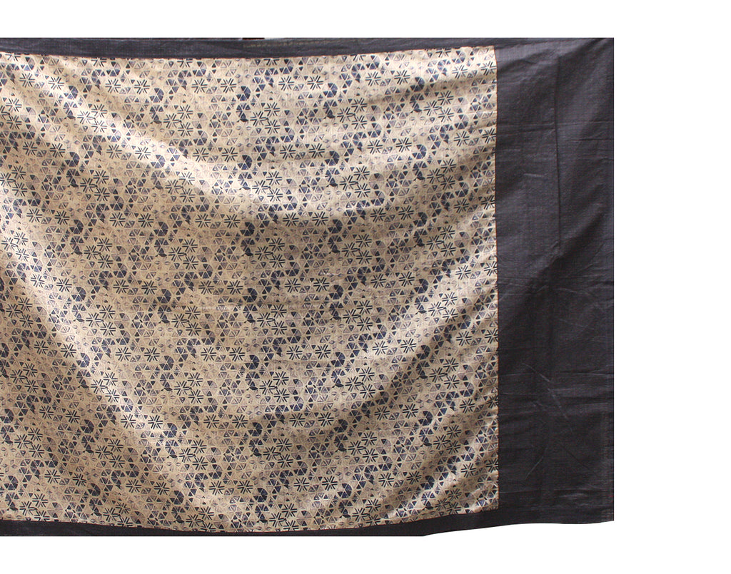 Gray 'N Cream Handloom Rawsilk Saree