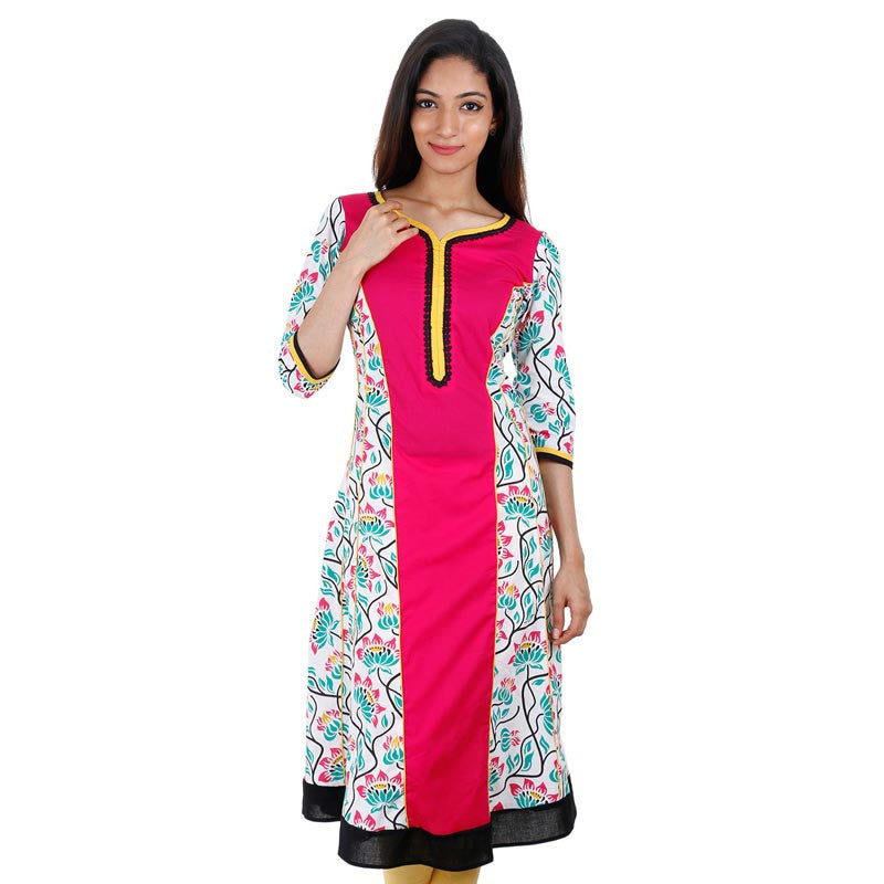 Bayberry Printed Cotton Anarkali From Estyle
