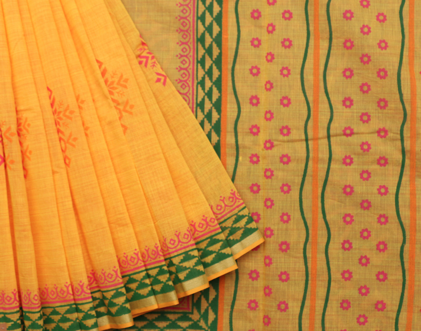 Classic Handblock Printed Cotton Saree