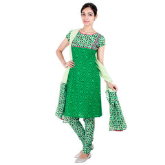 jeely bean green tri arc printed kurta