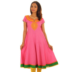 eSTYLe Honeysuckle Wide Flare Anarkali Kurta