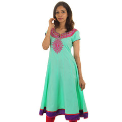 Cockatoo Embroidered Anarkali Kurta With Wide Flare