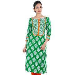 Ultra Green Printed Kurta From eSTYLe