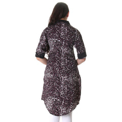 Multicolor Printed Kurta With Fold Up Sleeve
