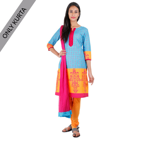 Blue Atoll Cotton Printed Kurta