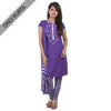 Royal Purple Embroidered Cotton Classic Kurta From eSTYLe