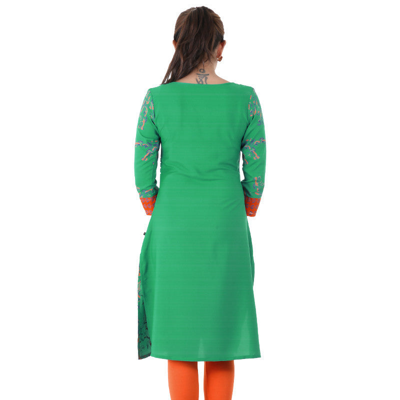 Stylish Georgette Kurta From eSTYLe in Green Shade