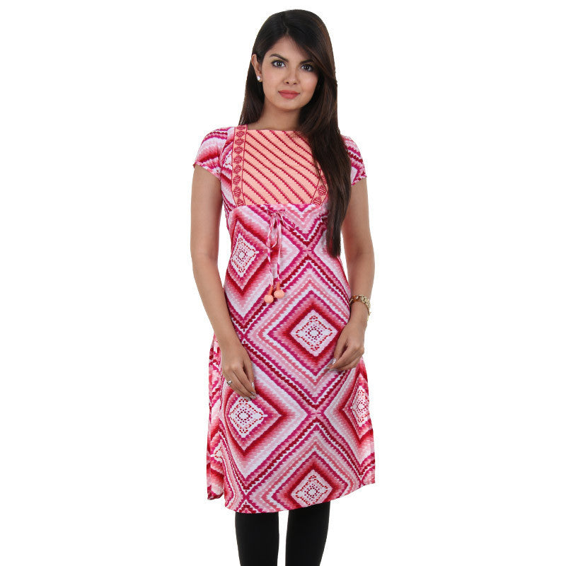 Barbie Pink Printed Kurta From eSTYLe