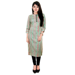 Modern Collection - Button Down Pale Green Stylish Printed Kurta From eSTYLe