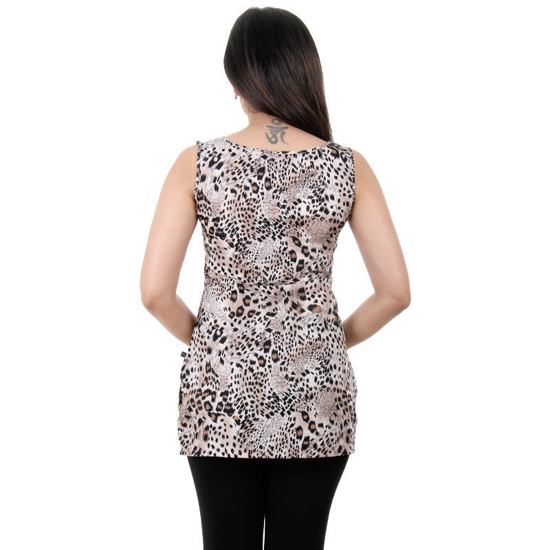 Western Tops - Cheeta Prints On Sleeveless Tops From eSTYLe