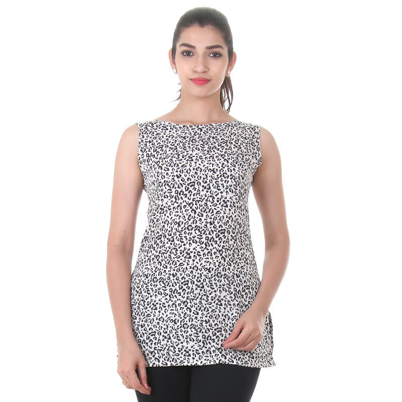 Western Tops - Leopard Prints On Sleeveless Tops From eSTYLe