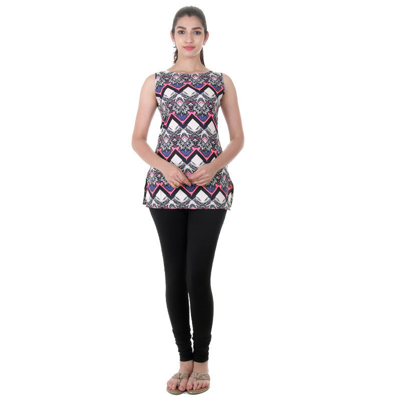 Western Tops - Pink Neon Prints On Sleeveless Tops From eSTYLe