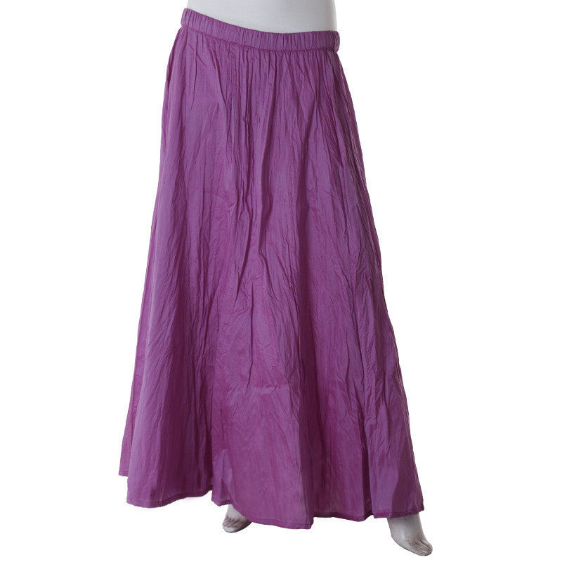 Meadow Mauve Poly Cotton Gatherred Skirt From eSTYLe.