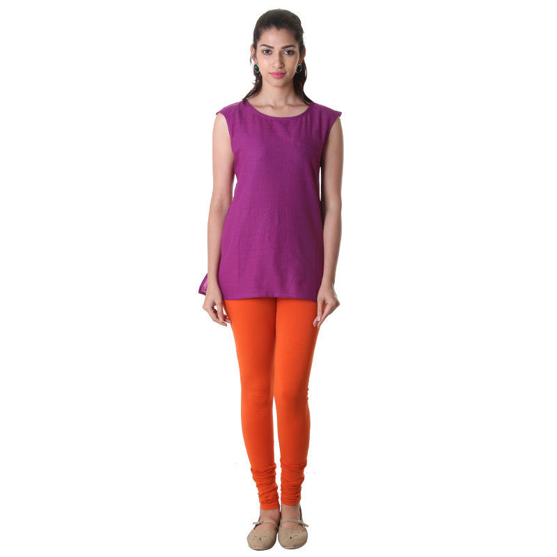 Deep Orchid High -Low Sleeveless Tunic Top From eSTYLe .