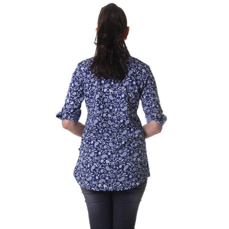 Twilight Blue Printed Shirt From eSTYLe