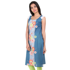 Blue Heaven Floral Printed Central Panel Kurta From eSTYLe