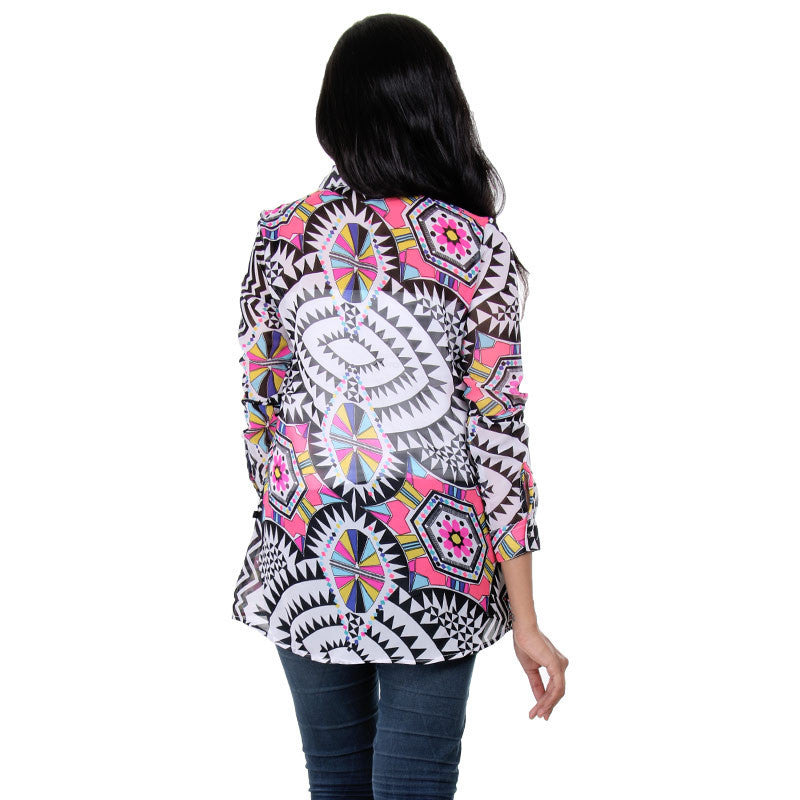 Multi Colour Beautiful Printed Design Shirt From eSTYLe
