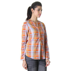 eSTYLe Stylish Yarn Dyed Rayon Trendy Top