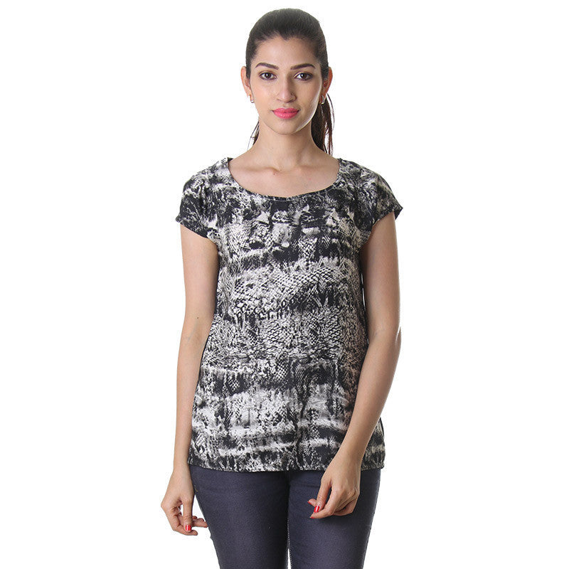 eSTYLe Multi Colour Print Polyster Legend Fashion Top