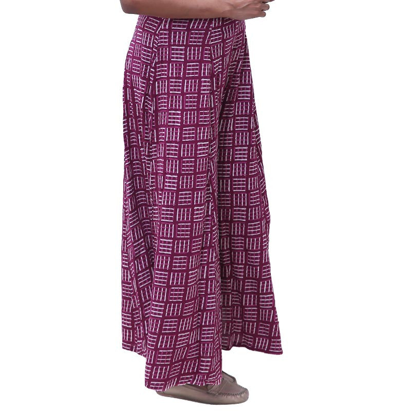 Purple Potion Printed Rayon Palazzo Pants