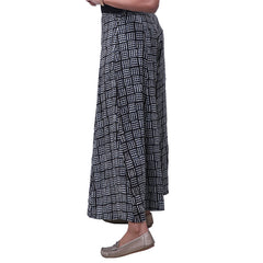 Pitch Black Printed Rayon Palazzo Pants