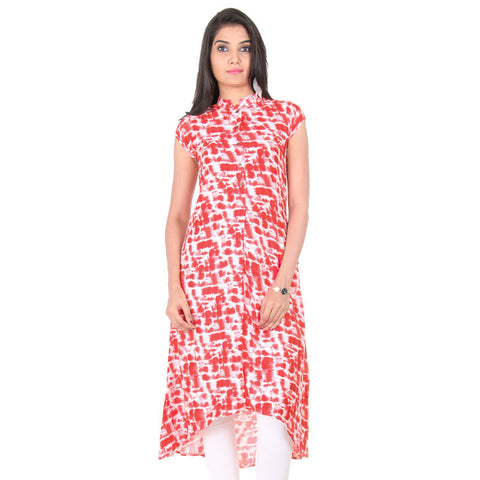 Tango Red High-Low Hemline Kurta From eSTYLe