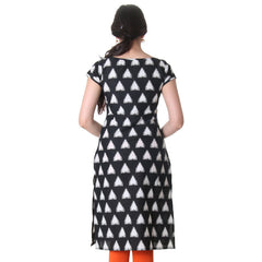 Moonless Night Triangle Printed Cotton Kurta From eSTYLe