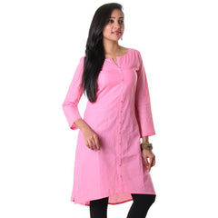 Morning Glory Stylished Placket cotton Kurta From eSTYLe
