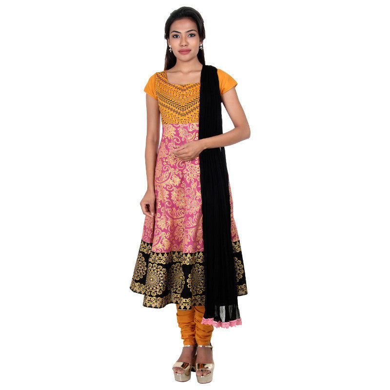 Deco Rose All Over Ethnic Prints Pure Cotton 3...