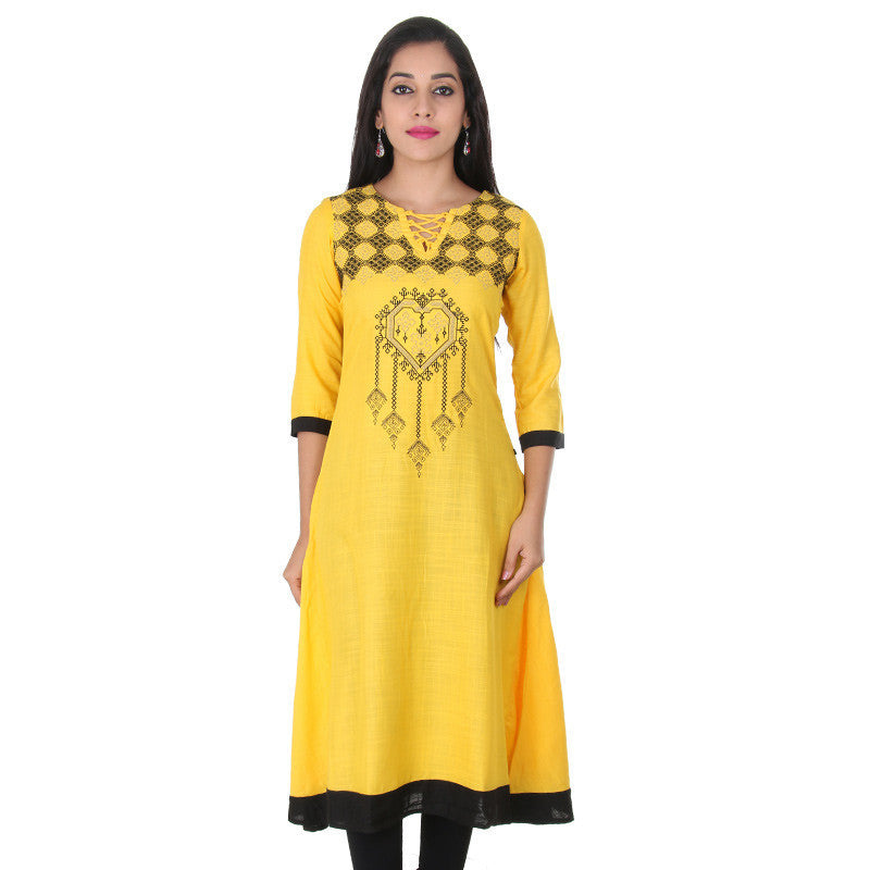 Spectra Yellow Boat Style Neck With Knot Lace...