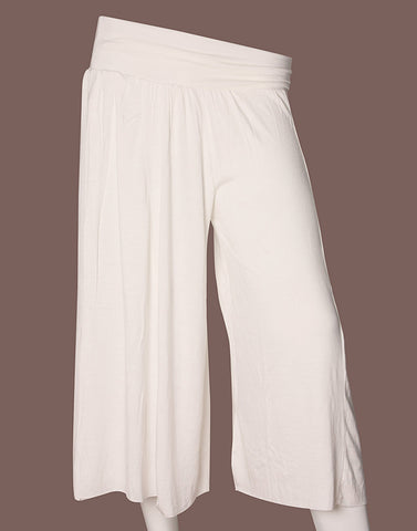Snowy White Divider Pants