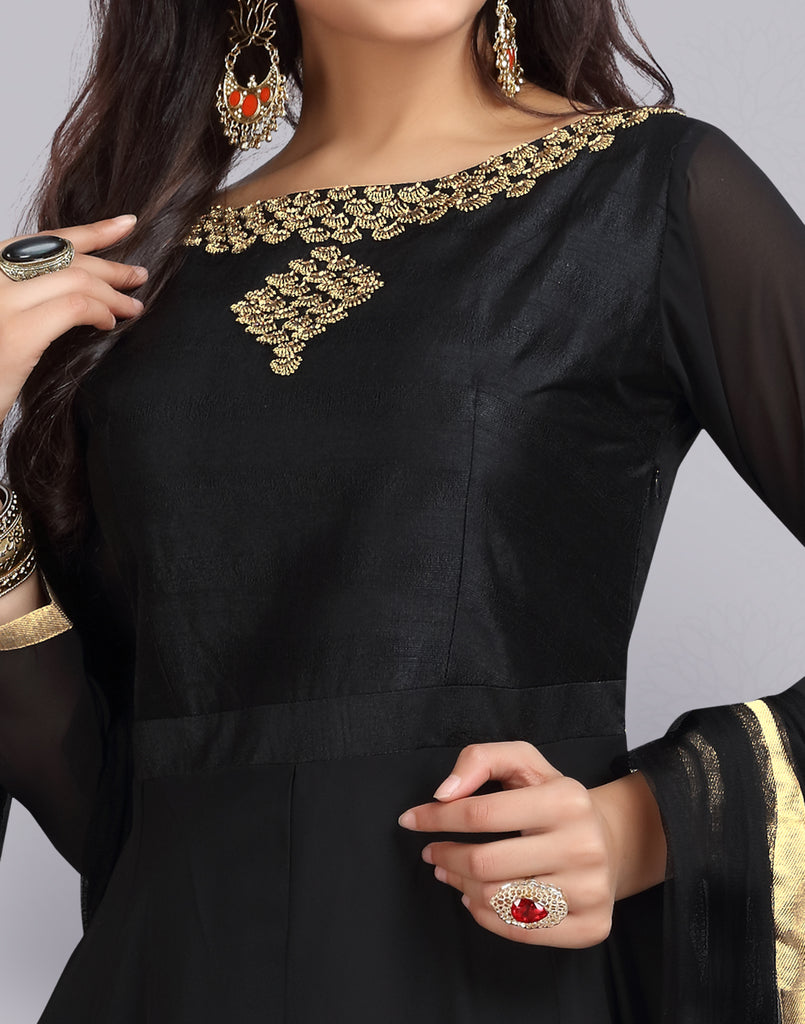 Pirate Black Georgette Anarkali Salwar Suit