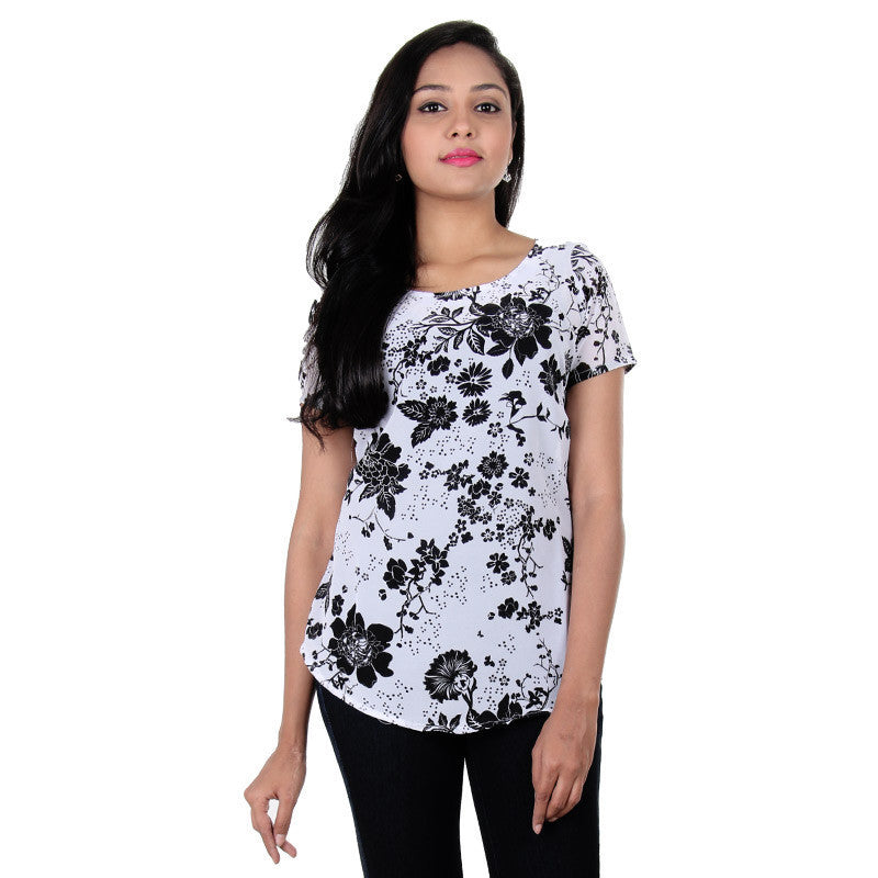 Bright White Mixing With Beautiful Black Floral...