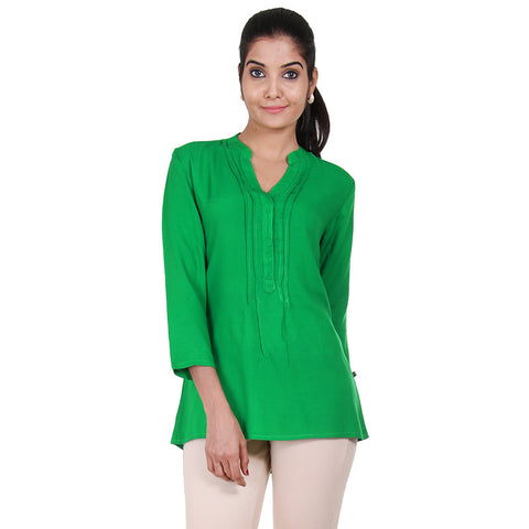 Bright Green High-Low Hem Top From eSTYLe