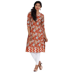Baked Apple All-Over Prints Cotton Angarkha From eSTYLe