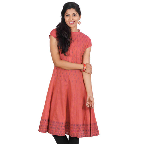 eSTYLe Rose Of Sharon Casual Cotton Wide Flared-Cut Anarkali