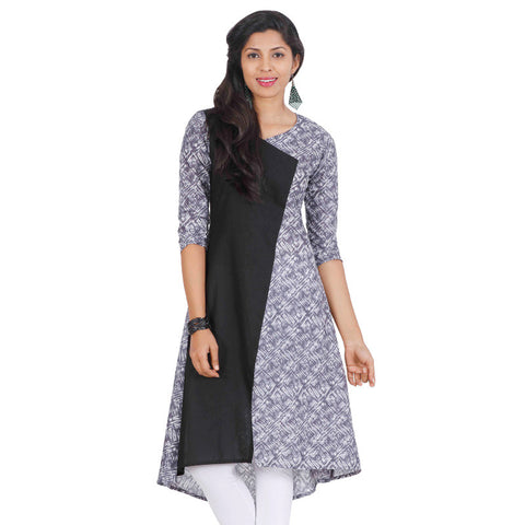 Castlerock High-Low Hemline Cotton Kurta From eSTYLe