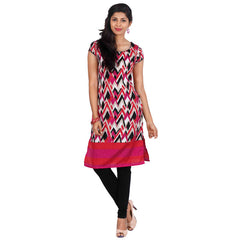 Multi Colour All Over Zig-Zag Print Trendy Kurta From eSTYLe