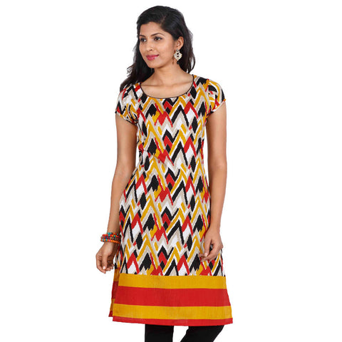 eSTYLe Multi Colour Kurta - All Over Rich Style Motifs
