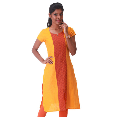Saffron South Cotton Straight-Cut Kurta