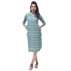 Mallard Green Straight-Cut Mandarin Collar Kurta