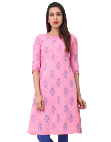 Morning Glory Cotton Straight-Cut Kurta
