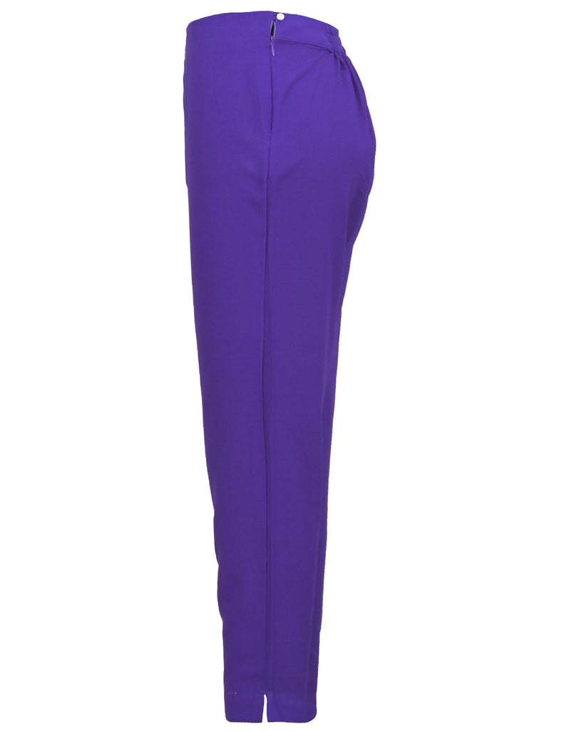 Dazzling Blue Cotton Cigarette Pants